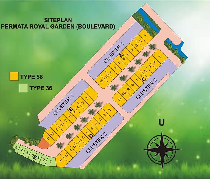 Siteplan Permata Royal Garden Boulevard